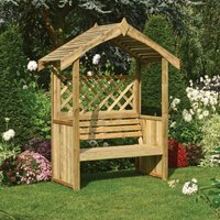 Salisbury Traditional Arbour 2245 x 1500 x 900mm Natural Timber Finish - Rowlinson