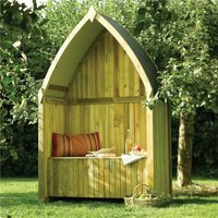 Winchester Arbour Wooden Timber Garden Seat Bench Pressure Treated - Rowlinson