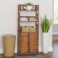 Roxanna 46 x 117.5cm Free-Standing Cabinet by Brown - Bloomsbury Market