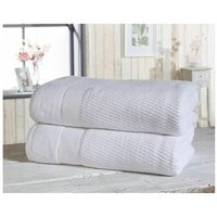 ROYAL VELVET 100% Sheared Cotton Towel Set White 1 x Bath Sheet