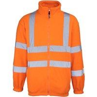 RTY High Visibility Mens High Vis Full Zip Fleece Jacket (3XL) (Fluorescent Orange)