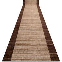 Rugsx - Runner anti-slip STREIFEN 120 cm brown Shades of brown 120x940 cm