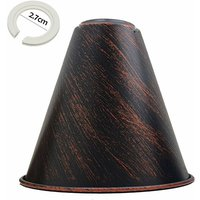 Rustic Red Cone Shape Metal Lamp Shades Easy Fit Pendant Lig