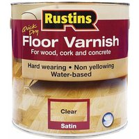 Rustins AFCS2500 Quick Dry Floor Varnish Satin 2.5 Litre