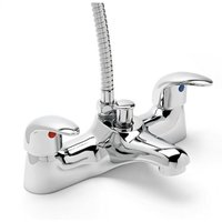 Prestige Bath Shower Mixer Tap with Shower Handset - Chrome - Sagittarius