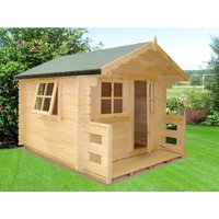 Salcey Mini Log Cabin Playhouse Childrens Wendy House - SHIRE