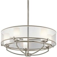 Elstead Saldana - 5 Light Pendant Chandelier Light Classic Pewter, G9