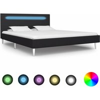 Sanabria European Double (140 x 200 cm) Upholstered Bed Frame by Ebern Designs - Black