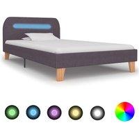 Sandefur European Single (90 x 200 cm) Upholsterd Bed Frame by Ebern Designs - Brown