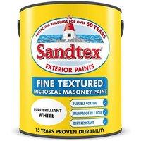 Sandtex Fine Textured Masonry Paint Matt - Magnolia - 5L
