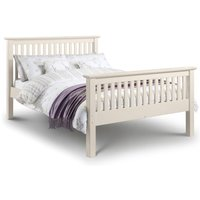 Sara 4ft6 Double 135 x 190 STONE WHITE High Foot End Bed Frame