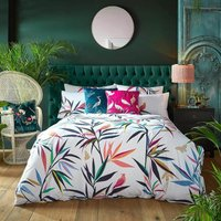 Sara Miller Bamboo Multi Super King Size Duvet Cover Set Bedding Bed Set