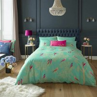 Sara Miller Bedding Green Birds King Size Duvet Cover Set