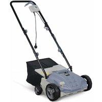 VOLTR - Scarificateur électrique gazon 1500W - Outil 2en1 aérateur et démousseur pelouse, 2 rouleaux : couteaux et griffe, collecteur 30L, entretien