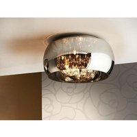 Schuller Lighting - Schuller Argos - 5 Light Dimmable Crystal Flush Ceiling Light with Remote Control Chrome, Mirror, G9
