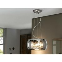 Schuller Lighting - Schuller Argos - 5 Light Round Crystal Ceiling Pendant Chrome, Mirror, G9