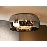 Schuller Lighting - Schuller Argos - 6 Light Crystal Flush Ceiling Light Chrome, Mirror, G9