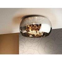 Schuller Lighting - Schuller Argos - 5 Light Crystal Flush Ceiling Light Chrome, Mirror, G9