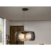 Schuller Lighting - Schuller Argos - 6 Light Dimmable Crystal Ceiling Pendant with Remote Control Chrome, Mirror, G9