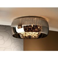 Schuller Argos - 6 Light Dimmable Crystal Flush Ceiling Light with Remote Control Chrome, Mirror, G9