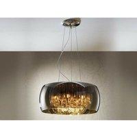 Schuller Lighting - Schuller Argos - 6 Light Round Crystal Ceiling Pendant Chrome, Mirror, G9