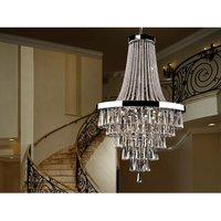 Schuller Lighting - Schuller Palace - 22 Light Dimmable Crystal Chandelier with Remote Control Chrome, G9