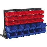Bin Storage System Bench Mounting 30 Bins - Sealey