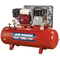 Sealey Compressor 150L Belt Drive Petrol Engine 6.5hp