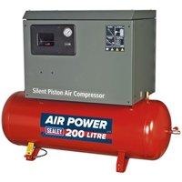 Sealey Compressor 200L Belt Drive 3hp Low Noise