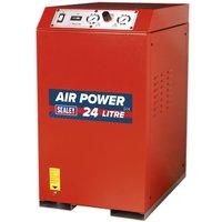 Sealey Compressor 24L V-Twin Direct Drive 2.5hp Cabinet Low