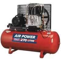 Sealey Compressor 270L Belt Drive 10hp 3ph 2-Stage