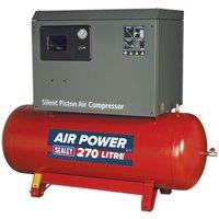 Sealey Compressor 270L Belt Drive 7.5hp 3ph 2-Stage Low Nois