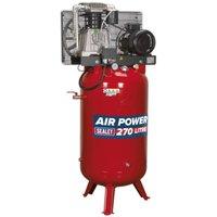 Sealey Compressor 270L Vertical Belt Drive 7.5hp 3ph 2-Stage