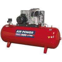 Sealey Compressor 500L Belt Drive 7.5hp 3ph 2-Stage