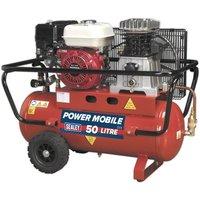 Sealey Compressor 50L Belt Drive Petrol Engine 5.5hp