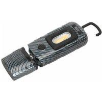 Sealey LED3601CF Rechargeable 360° Insp Lamp 2W COB + 1W LED Carbon Fibre Effect