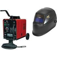 MIGHTYMIG150 230v Gas / No-Gas MIG Welder 150Amp + Welding Helmet - Sealey