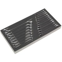 Sealey S01124 Tool Tray with Combination and Deep Offset Spanner Set 20pc - Metric - Siegen