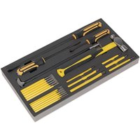 Sealey S01131 Tool Tray with Prybar, Hammer and Punch Set 23pc