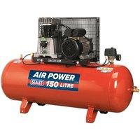 SAC2153B Compressor 150L Belt Drive 3hp with Cast Cylinders