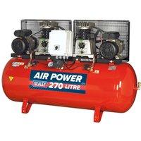 Sealey SAC2276B Compressor 270L Belt Drive 2 x 3hp with Cast