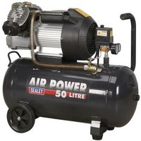 Sealey SAC5030VE 50ltr V-Twin Direct Drive Compressor 3hp
