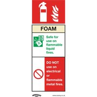 Sealey Safety Sign - Foam Fire Extinguisher - Rig Plast - Pk of 10