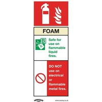 SS30V1 Safe Conditions Safety Sign - Foam Fire Extinguisher - Self-Adhesive Vinyl - Sealey