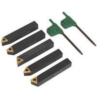 SM3025CS2 Indexable 8mm Lathe Turning Tool Set 5pc - Sealey