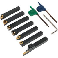 SM3025CS6 Indexable 10mm Lathe Turning Tool Set 7pc - Sealey
