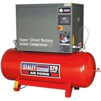 SSC12710 Screw Compressor 270L 10hp 3ph Low Noise - Sealey