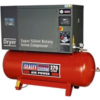 Sealey SSC12710D Screw Compressor 270ltr 10hp 3ph Low Noise with Dryer - Screw - SEALEY TOOLS UK