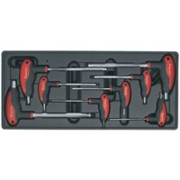 TBT06 Tool Tray with T-Handle Ball-End Hex Key Set 8pc - Sealey