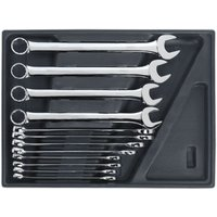 Sealey TBT37 Tool Tray with Combination Spanner Set 12pc - Metric
